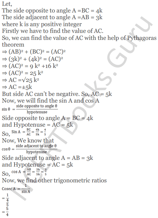 KC Sinha Maths Solutions Class 10 Chapter 4 Trigonometric Ratios and Identities Ex 4.1 - 33