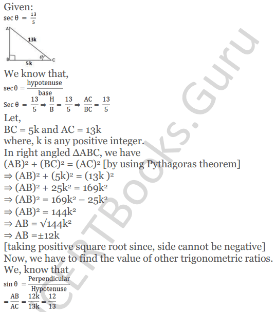 KC Sinha Maths Solutions Class 10 Chapter 4 Trigonometric Ratios and Identities Ex 4.1 - 67