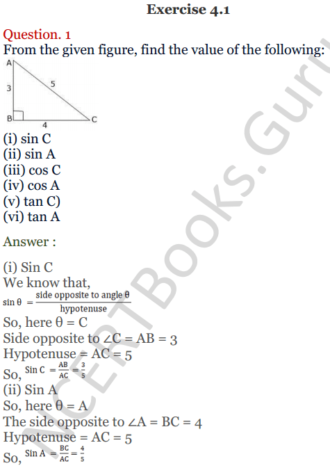 CHAPTER 10 TRIGONOMETRIC - RS Aggarwal Class 10 Solutions