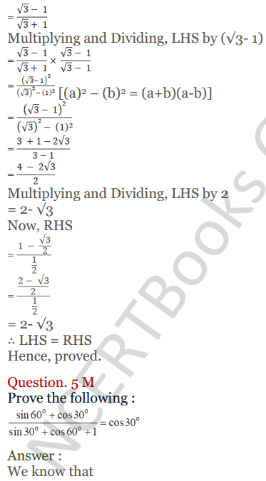 KC Sinha Maths Solutions Class 10 Chapter 4 Trigonometric Ratios and Identities Ex 4.2 - 29