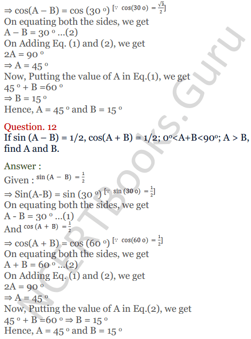 KC Sinha Maths Solutions Class 10 Chapter 4 Trigonometric Ratios and Identities Ex 4.2 - 38
