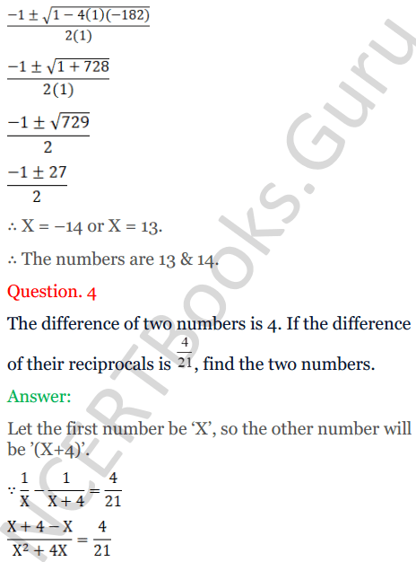 KC Sinha Maths Solutions Class 10 Chapter 7 Quadratic Equations Ex 7.5 - 4