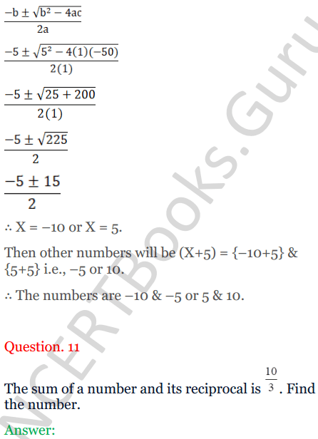 KC Sinha Maths Solutions Class 10 Chapter 7 Quadratic Equations Ex 7.5 - 14