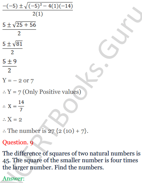 KC Sinha Maths Solutions Class 10 Chapter 7 Quadratic Equations Ex 7.5 - 11