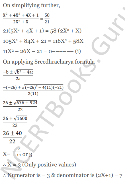 KC Sinha Maths Solutions Class 10 Chapter 7 Quadratic Equations Ex 7.5 - 23