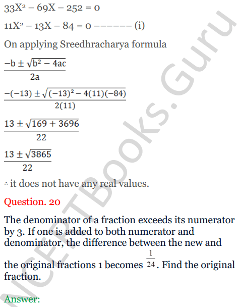 KC Sinha Maths Solutions Class 10 Chapter 7 Quadratic Equations Ex 7.5 - 29