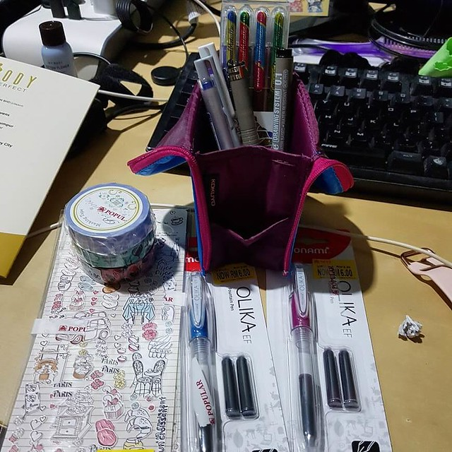 Image of pens in pencil case