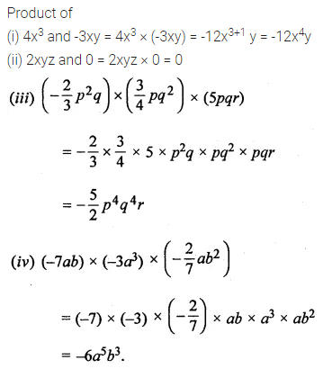 ML Aggarwal Class 8 Solutions for ICSE Maths Chapter 10 Algebraic Expressions and Identities Ex 10.2 Q1