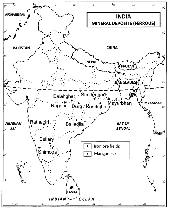 Class 12 Geography NCERT Solutions Chapter 7 Mineral and