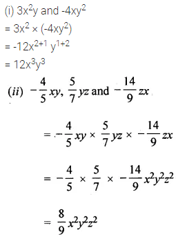 ML Aggarwal Class 8 Solutions for ICSE Maths Chapter 10 Algebraic Expressions and Identities Check Your Progress Q4