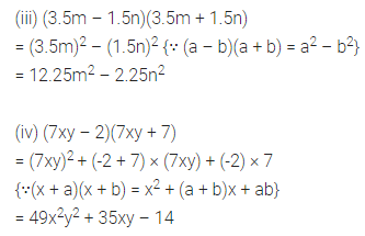 ML Aggarwal Maths for Class 8 Solutions Book Pdf Chapter 10 Algebraic Expressions and Identities Check Your Progress Q10.1