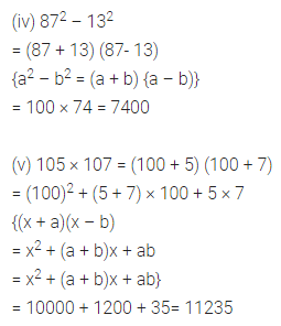 ML Aggarwal Class 8 Solutions for ICSE Maths Chapter 10 Algebraic Expressions and Identities Check Your Progress Q11.1
