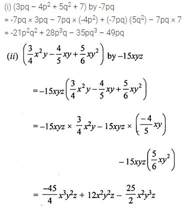 ML Aggarwal Class 8 Solutions for ICSE Maths Chapter 10 Algebraic Expressions and Identities Check Your Progress Q5