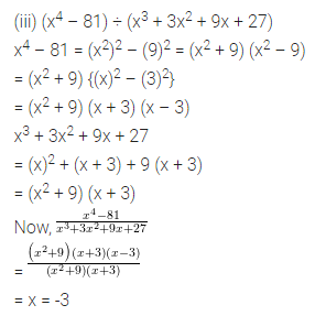 ICSE Class 8 Maths Book Solutions Free Download Pdf Chapter 11 Factorisation Check Your Progress Q3.1