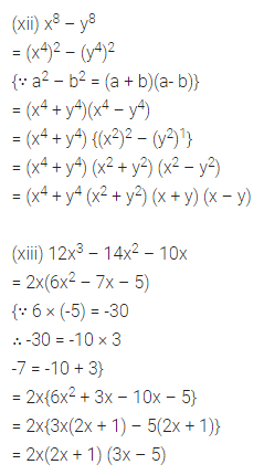 ML Aggarwal Maths for Class 8 Solutions Book Pdf Chapter 11 Factorisation Check Your Progress Q2.3