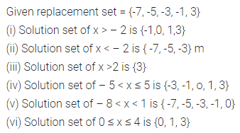 ML Aggarwal Class 8 Solutions for ICSE Maths Chapter 12 Linear Equations and Inequalities in one Variable Ex 12.3 Q1