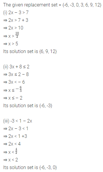 ML Aggarwal Class 8 Solutions for ICSE Maths Chapter 12 Linear Equations and Inequalities in one Variable Ex 12.3 Q5