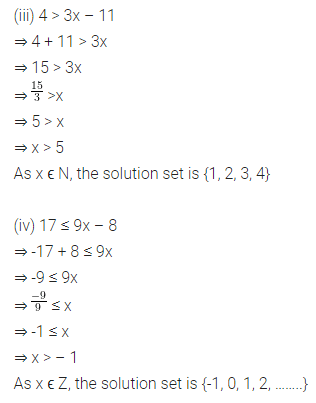 ML Aggarwal Class 8 Solutions for ICSE Maths Chapter 12 Linear Equations and Inequalities in one Variable Ex 12.3 Q6.1