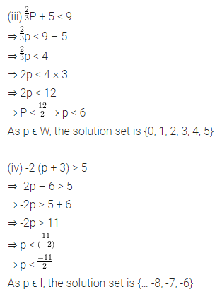 Maths Questions for Class 8 ICSE With Answers Chapter 12 Linear Equations and Inequalities in one Variable Ex 12.3 Q7.2