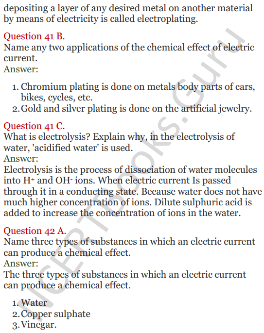 Lakhmir Singh Science Class 8 Solutions Chapter 14 Chemical Effects of Electric Current - 14