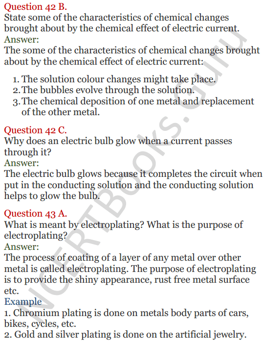 Lakhmir Singh Science Class 8 Solutions Chapter 14 Chemical Effects of Electric Current - 15