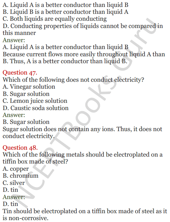 Lakhmir Singh Science Class 8 Solutions Chapter 14 Chemical Effects of Electric Current - 18