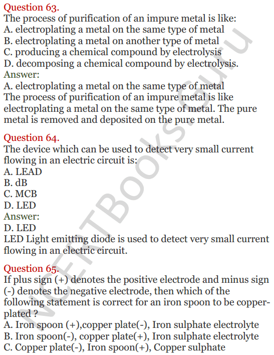 Lakhmir Singh Science Class 8 Solutions Chapter 14 Chemical Effects of Electric Current - 25