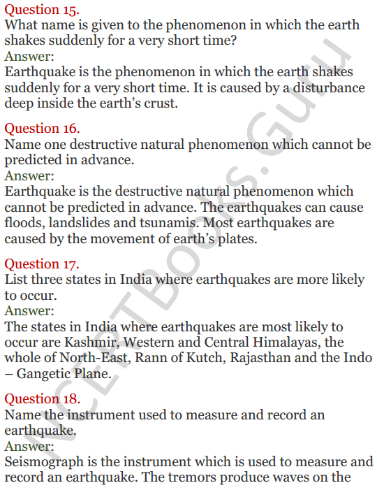 Lakhmir Singh Science Class 8 Solutions Chapter 15 Some Natural Phenomena - 5