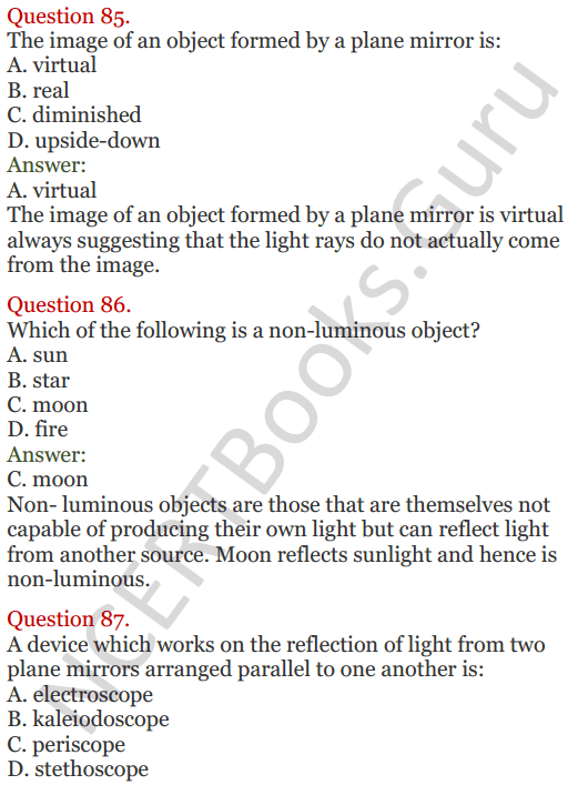Lakhmir Singh Science Class 8 Solutions Chapter 16 Light - 36
