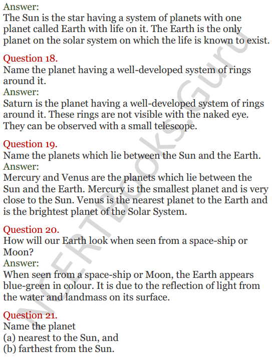 Lakhmir Singh Science Class 8 Solutions Chapter 17 Stars and the Solar System - 6