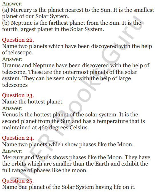 Lakhmir Singh Science Class 8 Solutions Chapter 17 Stars and the Solar System - 7