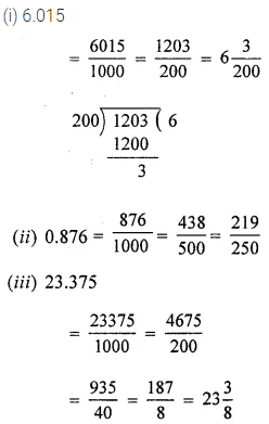 Class 6 ML Aggarwal Chapter 7 Decimals Check Your Process