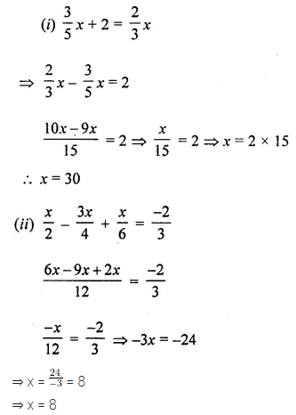 ML Aggarwal Class 8 Solutions for ICSE Maths Chapter 12 Linear Equations and Inequalities in one Variable Check Your Progress Q1.1