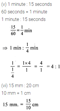 Maths ML Aggarwal Class 6 Chapter 8 Ratio and Proportion Ex 8.1