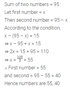 ML Aggarwal Class 8 Solutions for ICSE Maths Chapter 12 Linear Equations and Inequalities in one Variable Check Your Progress Q3