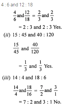 Class 6 ML Aggarwal Chapter 8 Ratio and Proportion Ex 8.2