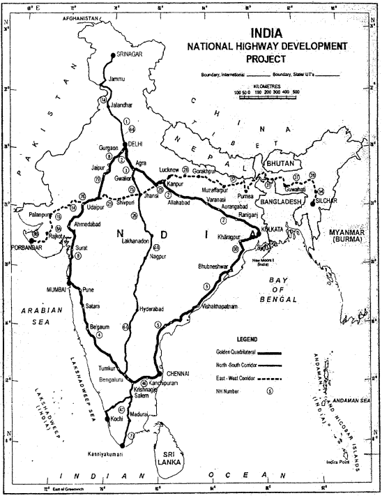 Class 12 Geography NCERT Solutions Chapter 10 Transport