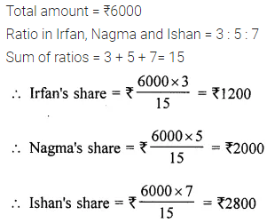 M.L Aggarwal Class 6 Chapter 8 Ratio and Proportion Objective Type Questions