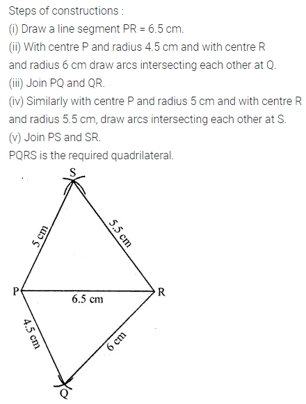 ML Aggarwal Class 8 Solutions for ICSE Maths Chapter 14 Constructions of Quadrilaterals Ex 14.1 Q1