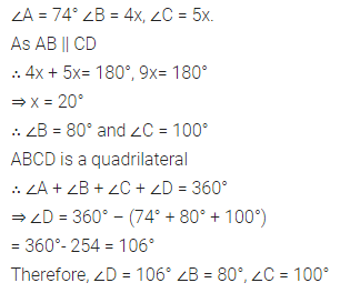 ML Aggarwal Class 8 Solutions for ICSE Maths Chapter 13 Understanding Quadrilaterals Check Your Progress Q3.1