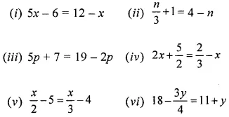 ML Aggarwal Class 6 Solutions ICSE Chapter 9 Algebra Ex 9.5