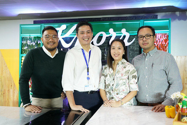 (L-R) Uael Canoy-Knorr Philippines' Brand Manager, Ed Sunico- Unilever Philippines' VP for Sustainable Business & Communications, Kristine Go-Unilever Philippines' Director for Foods and Brian Chanyungco-Knorr Philippines' Senior Brand Mana