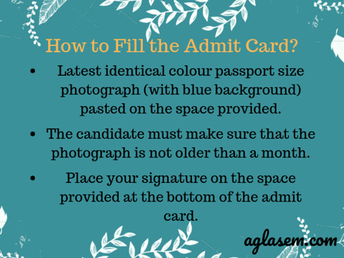 Latest identical colour passport size photograph (with blue background) pasted on the space provided. The candidate must make sure that the photograph is not older than on month. Place your signature on the space pro-min
