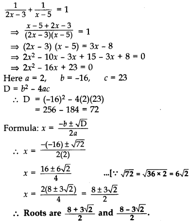 Important Questions for Class 10 Maths Chapter 4 Quadratic Equations 25