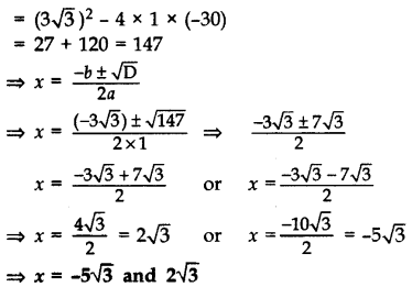 Important Questions for Class 10 Maths Chapter 4 Quadratic Equations 13