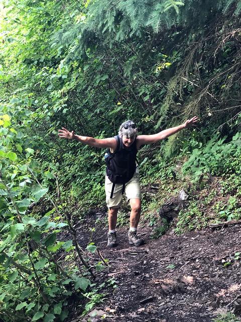 Kakabeka - Linda climbing the 30 meter end