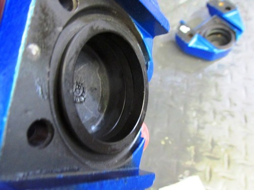New Square O-ring Seated In Groove Inside Caliper Bore