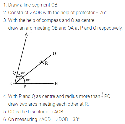 ML Aggarwal Class 6 Solutions Pdf Chapter 13 Practical Geometry Check Your Progress