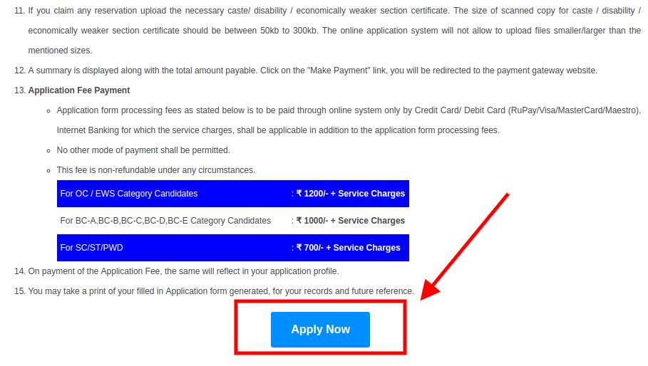 APSET Application Form 2021