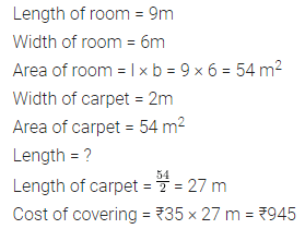 ML Aggarwal Class 6 Solutions for ICSE Maths Chapter 14 Mensuration Check Your Progress Q4